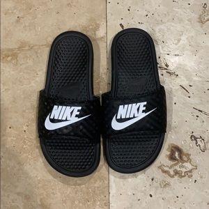Nike Ladies Slides - Black